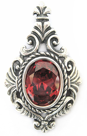 Torcello Pendant with Garnet